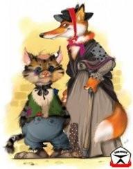картинка кот базилио и лиса алиса
